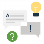 Concept icon of questions and conversation